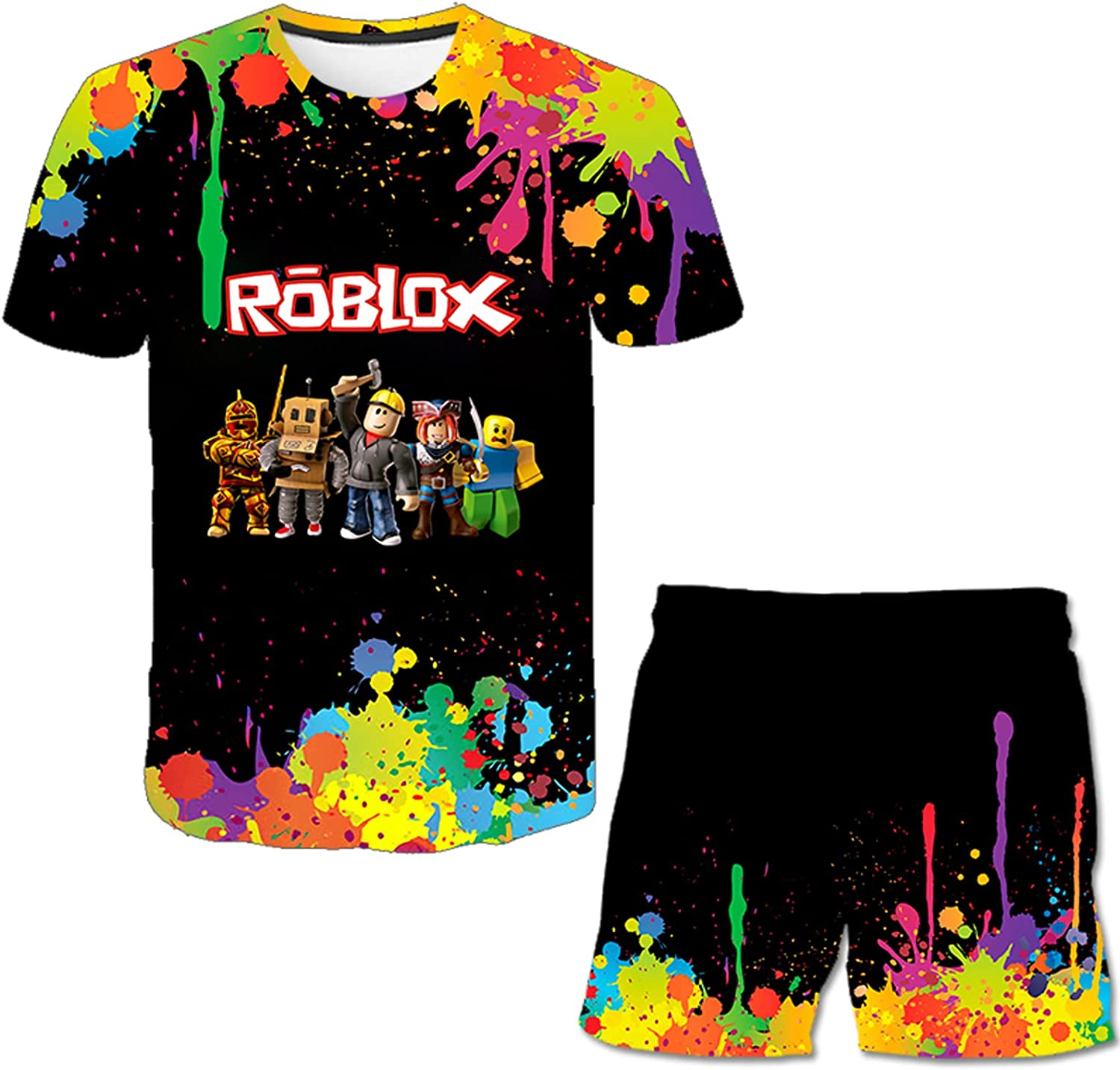fadyard Youth T-Shirts and Shorts 3D Print Boy and Girl...