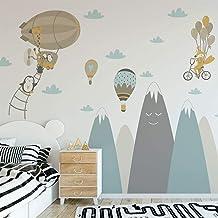 Muurtattoo kinderen – decoratie kinderkamer – muursticker voor kinderen – wandtattoo Scandinavisch – enorme Scandinavische...