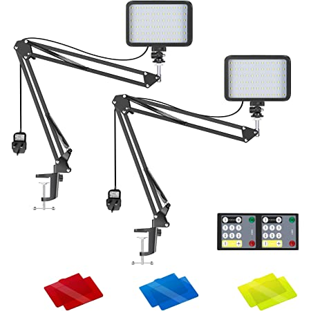 2-Pack Dimmable 5600K LED Video Light with Scissor Arm Stand /& Color Filters Neewer Video Conference Lighting Kit for Zoom Call Meeting//Remote Working//Self Broadcasting//YouTube Video//Live Streaming