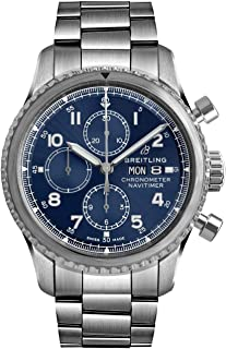 Navitimer 8 Chronograph 43 Blue Dial Chronograph Steel Watch - REF: A13314101C1A1