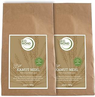 BIO Kamut Urweizen Vollkornmehl von BIOMOND / 2 x 1.000 g Vorteilspack / Khorasan-Weizen aus Kanada / mittelfeines Mehl