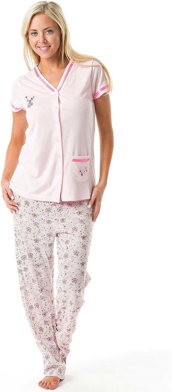 Casual Nights Women's Floral Short Sleeve Pajama Set