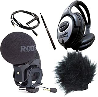 Rode SVM PRO – VideoMic + RODE Dead Kitten + RODE VC1 Cable + RODE Micro Boom Pole + Auriculares Keepdrum