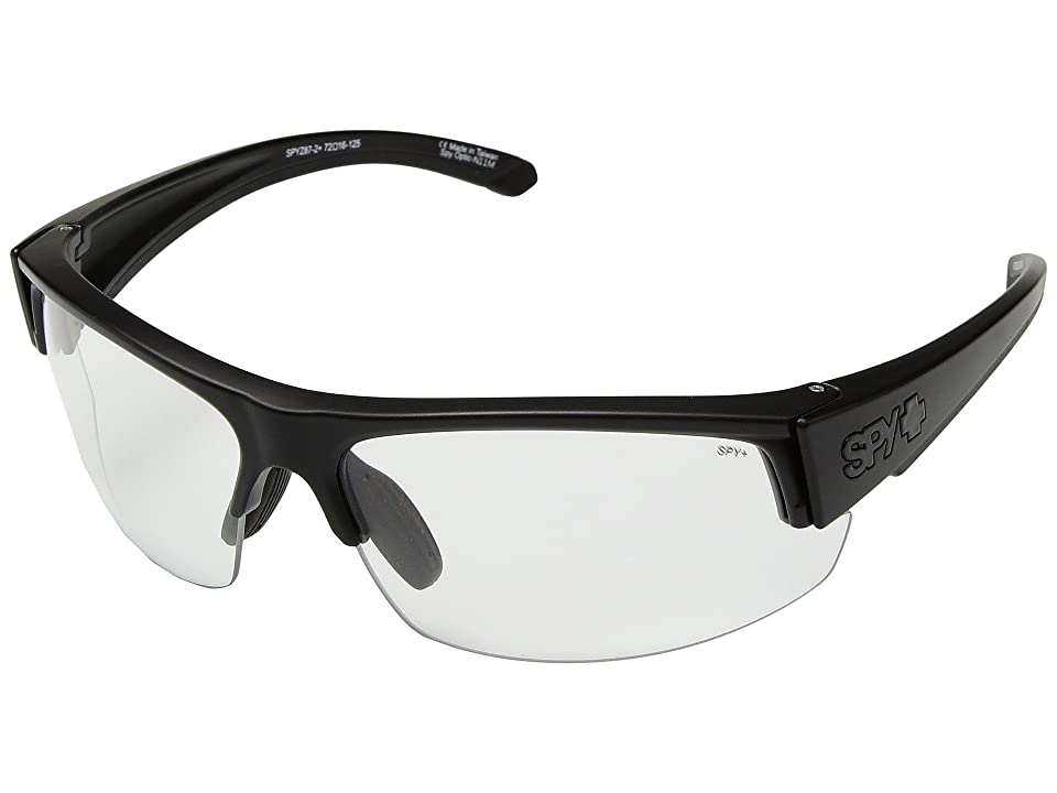 Spy Optic Sprinter (Matte Black Ansi RX/Clear) Athletic Performance Sport Sunglasses