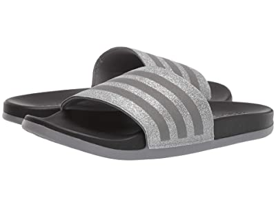 adidas Kids Adilette Comfort (Toddler/Little Kid/Big Kid) (Grey/Black) Girl