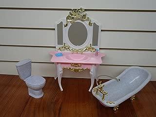 Gloria Bathroom Play Set for Doll Furniture