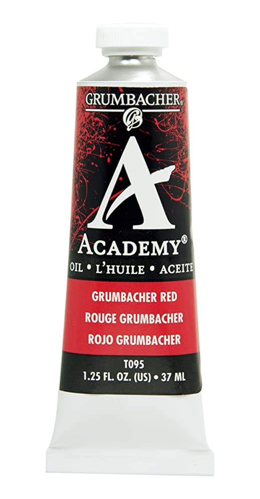 Grumbacher Academy Oil Paint, 37 ml/1.25 oz, Grumbacher Red