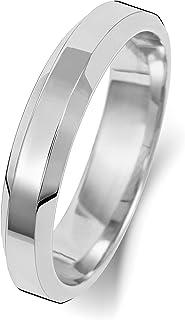 Anello Fede Nuziale Uomo/Donna 4mm in Oro bianco 18k (750) WJS1892218KW