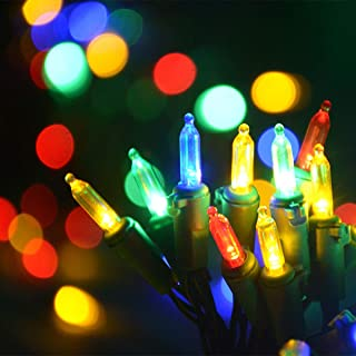 Homeleo 50 Count Multi-Colored Christmas Tree Lights, Battery Powered Mini Christmas Twinkle Lights(Red,Blue,Green,Yellow)