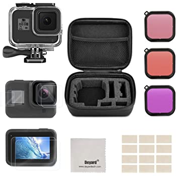 TDC4 Navitech 50-in-1 Action Camera Accessories Combo KIt with EVA Case Compatible with The Jay-tech 77007418 Watercam D528 DV123 DVH108 Action Camera