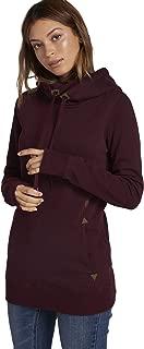 Volcom Women's Tower Pullover Heather Fleece Hooded Baselayer Sweatshirt