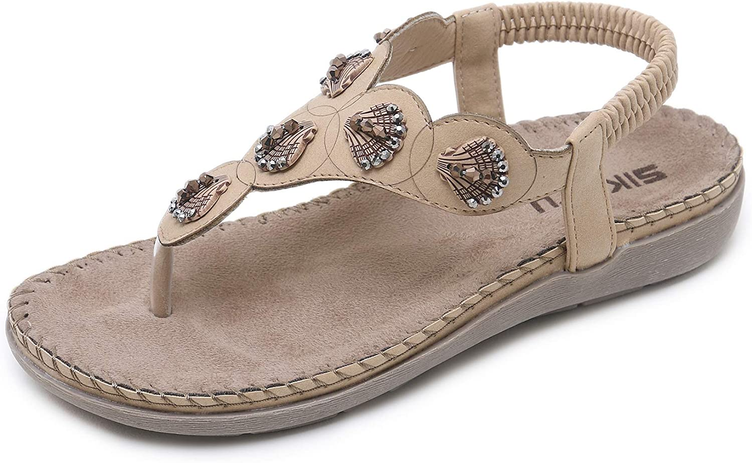 Womens Cross Toe Double Buckle Strap Summer Leather Flat Sandals