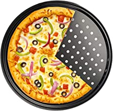 Zollyss Carbon Steel Pizza Baking Tray with Holes, 29 cm - Black