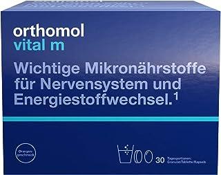 Orthomol vital m 30-talet granulat, tablett & kapslar, orange – vitaminkomplex för män med trötthet och trötthet