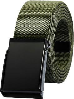 moonsix Elastic Web Belts for Men,Solid Color Stretch Military Style Flip-Top Belt