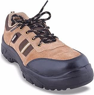 Lancer 112 Sporty Men's Safety Shoe with Steel Toe Cap, Size-6 UK, Khaki
