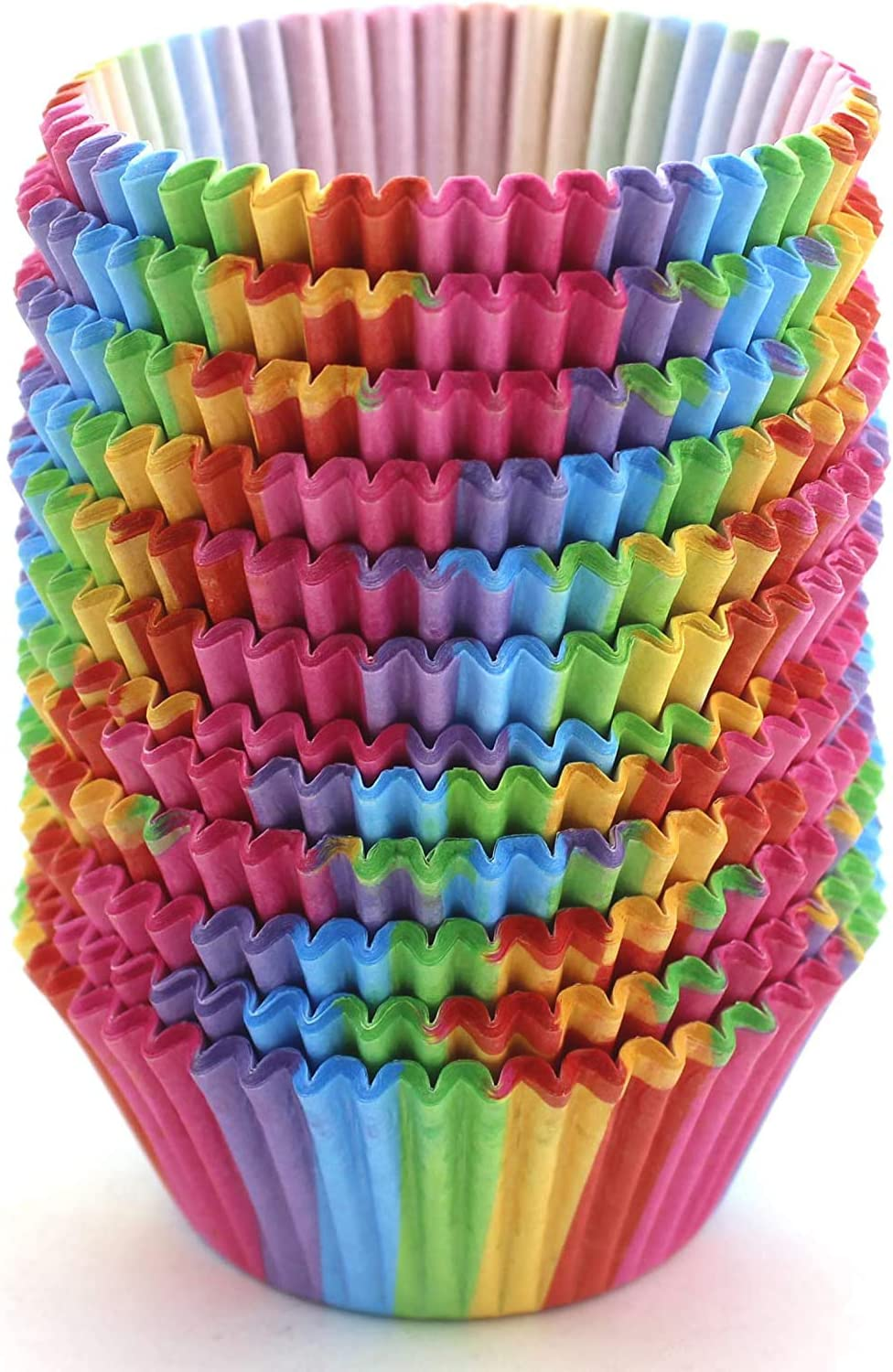 WARMBUY Rainbow Cupcake Papers Baking Cup Max 87% OFF 300 Ranking TOP10 Pcs Liners
