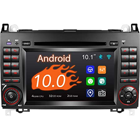 Amaseaudio Android 10 Autoradio 2 Din Für Benz W169 W245 W906 7 Touchscreen Indash Dvd Player Dsp Unterstützung Auto Gps Navigation Hd1080p Obdii Navigation
