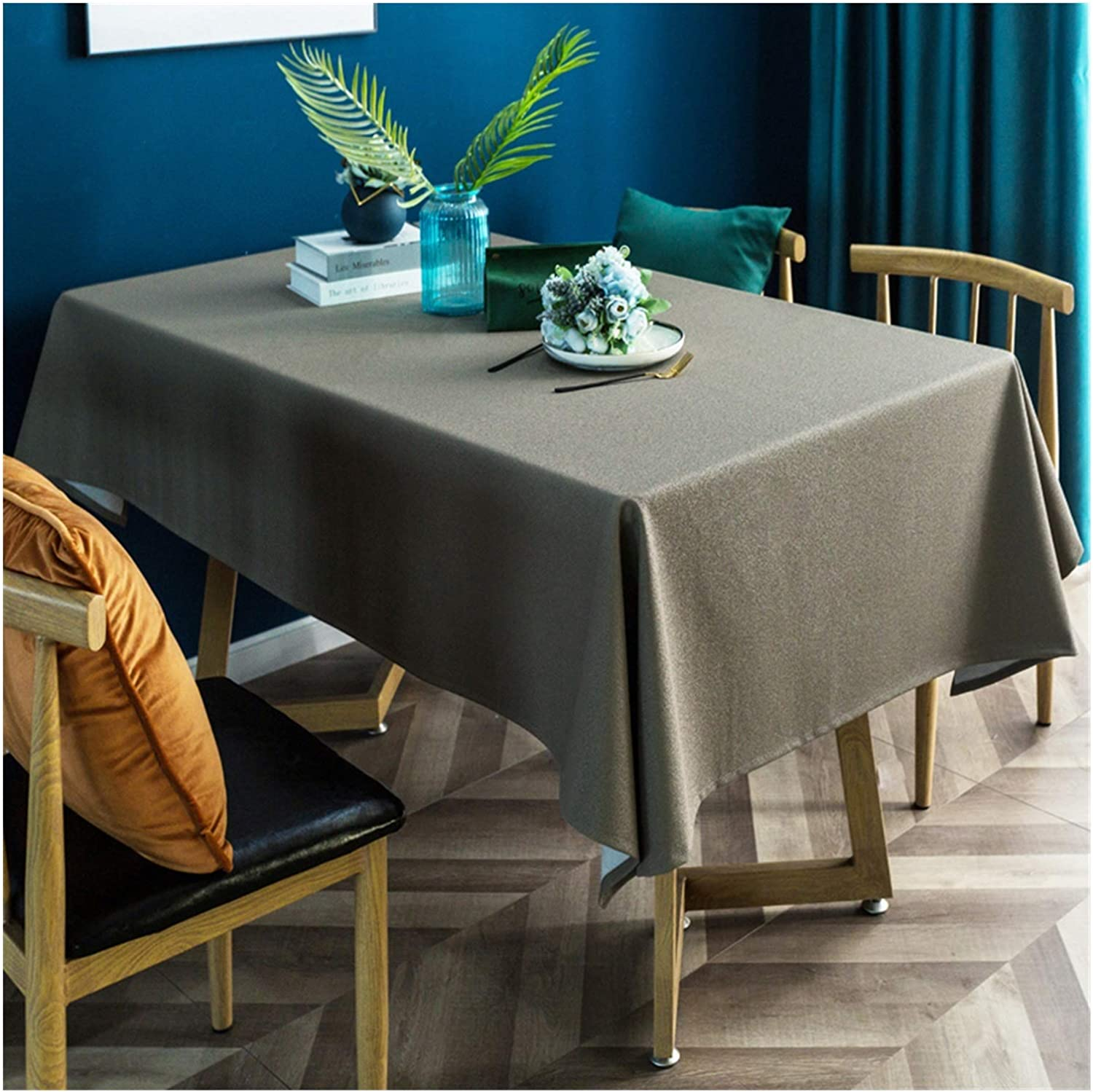 Table Cover Cloth and Oil-Proof Houston Mall Finally popular brand Color Rectangular M Solid
