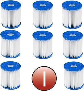 GAODA Filtro para piscina Bestway tipo I, reemplaza los cartuchos de filtro, cartucho de filtro, repuesto para spa, filtro de limpieza de piscina hinchable (8 unidades)