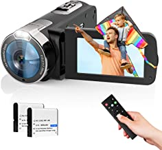 Video Camera Camcorder 2021 New Upgraded 1080P FHD 16X Zoom Digital Camera Recorder for YouTube 3.0 Inch Touch Screen Vlog...