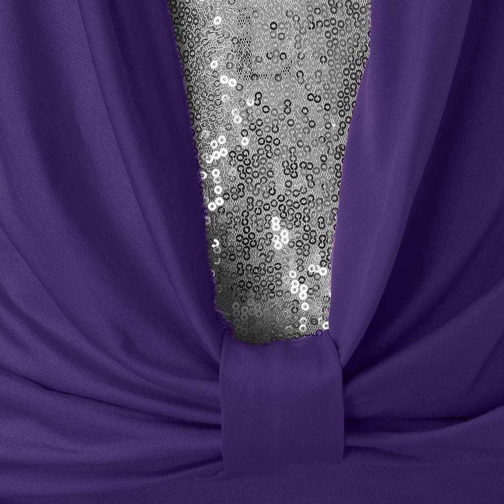 CICIYONER Damen Elegant 3/4 Geraffte Ärmel Blazer Sakko Einfarbig Slim Fit EIN Knopf Tailliert Geschäft Büro Jacke Kurz Mantel Anzüge Bolero Vier Farben, sechs Größen Lila-tops