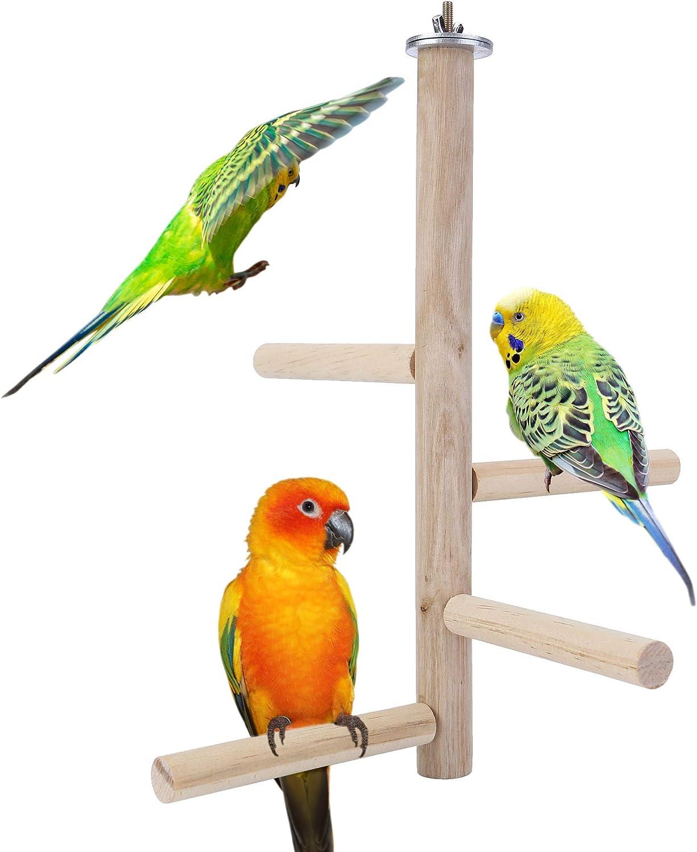 Overseas parallel import regular item Mogoko Natural Wood Bird Perch Multi Hanging Branch Stand latest