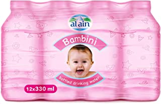 Al Ain Bambini Bottled Drinking Water for Babies - 330 ml (Pack of 12)