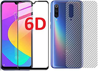Valueactive Mi A3 Screen Guard For Mi A3 Tempered Glass 6D Full Glue Cover Edge-Edge Anti-Scratch Screen Protector for Xiaomi Redmi Mi A3 with easy installation kit and ultra-thin Back Skin