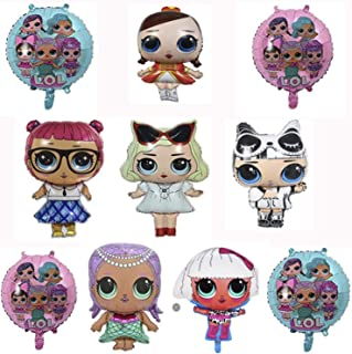 LOL Party's Balloons Surprise Birthday Balloon - 10 PCS - Bouquet Decorations Surprise Doll Balloons - Children Birthday Doll Balloons Decorations