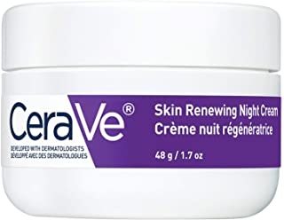 CeraVe Night Cream for Face | Skin Renewing Night Cream With Hyaluronic Acid & Niacinamide | Fragrance Free, 48 Grams