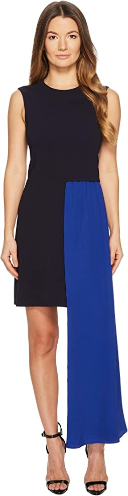 Neil Barrett - Fall Away Scarf Light Stretch Crepe Dress