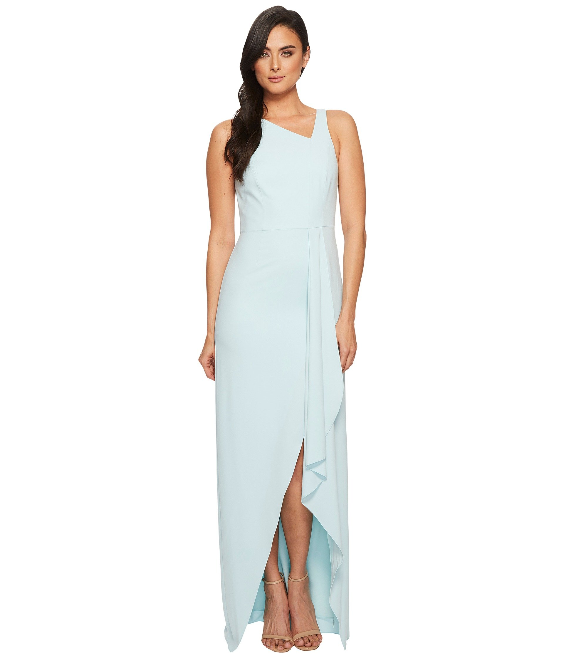 Halston heritage strapless dress with flowy drape | Shipped Free at ...