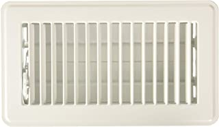 IMPERIAL Manufacturing RG3296 Imperial Louvered Design Floor Register, 4 in H X 8 in W, Steel, White