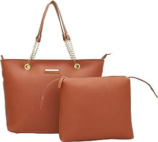Lapis O Lupo Women's Tote Bag (LLTB0011TN_Tan Brown)