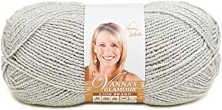 Lion Brand Yarn Lion Brand Vanna's Glamour Yarn (150) Platinum
