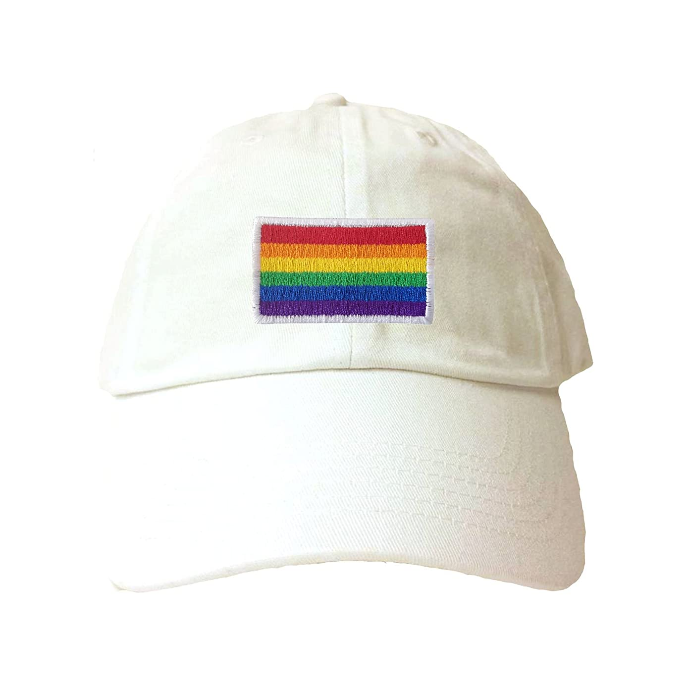 Adult Rainbow Gay & Lesbian Pride Flag Embroidered Dad Hat