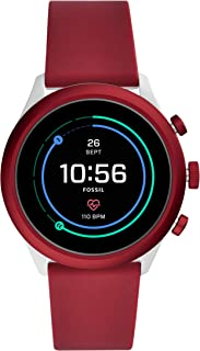 Men's Sport Metal and Silicone Touchscreen Smartwatch with Heart Rate, GPS, NFC, and Smartphone Notifications