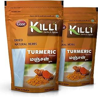 KILLI Turmeric | Manjal | Haldi | Pasupu | Curcuma longa | Arishina Powder, 100g (Pack of 2)