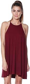 A+D Women's Halter Tank Summer Dress – Casual Flowy Swing Tunic Sundress