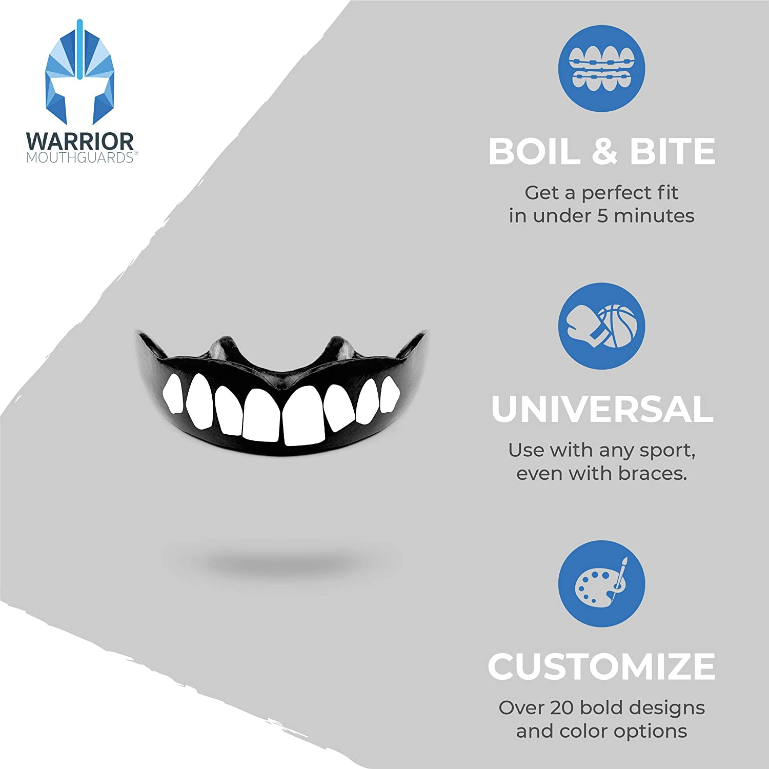 Details about  /Sports Mouthguard Tooth Brace Tooth guard Warm bite Children High quality Best