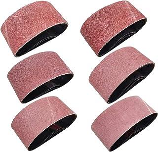 Sackorange 18 PCS 2-1/2 inch x 14 inch Abrasive Sanding Belts – 3 Each of 60 80 120..