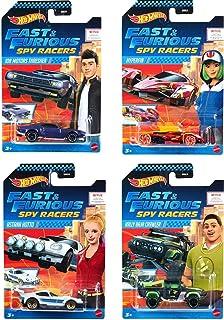 Hot Wheels 2020 Fast & Furious Spy Racers Premium Diecast Set of 4 Cars