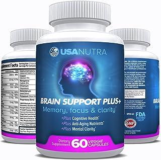 Brain Support Plus – Advanced Brain Vitamins Plus Nootropics for Memory Focus and Clarity, Stress Relief. Bacopa Monnieri,...