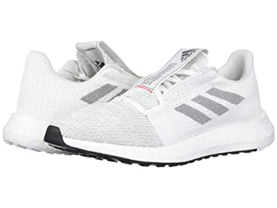 adidas Kids SenseBoost Go (Big Kid) (White/Grey/Solar Red) Boys Shoes