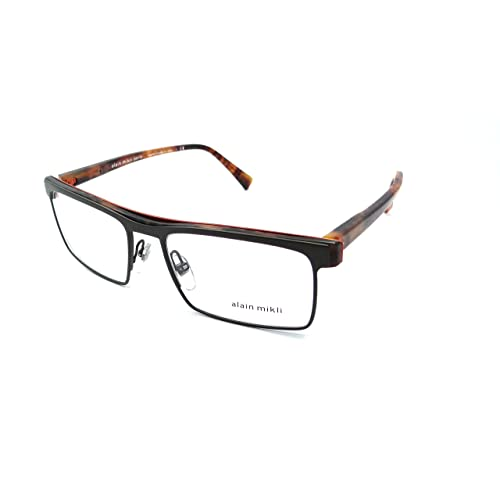 998d3fb53c Alain Mikli Rx Eyeglasses Frames A02021 E211 55x18 Dark Green Orange    Havana