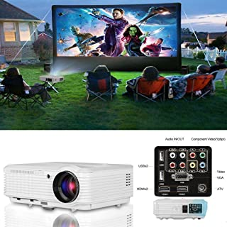 "CAIWEI LED Video Projector HD 200"" 3900 Lumens Home Projector Support 1080P For Outdoor Indoor Movie Night, Home Cinema Th..."