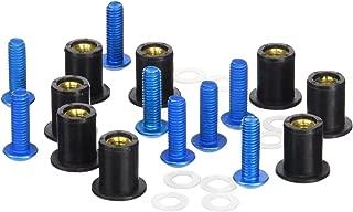 PUIG blister 6 Viti allen M6 x 30 mm blu