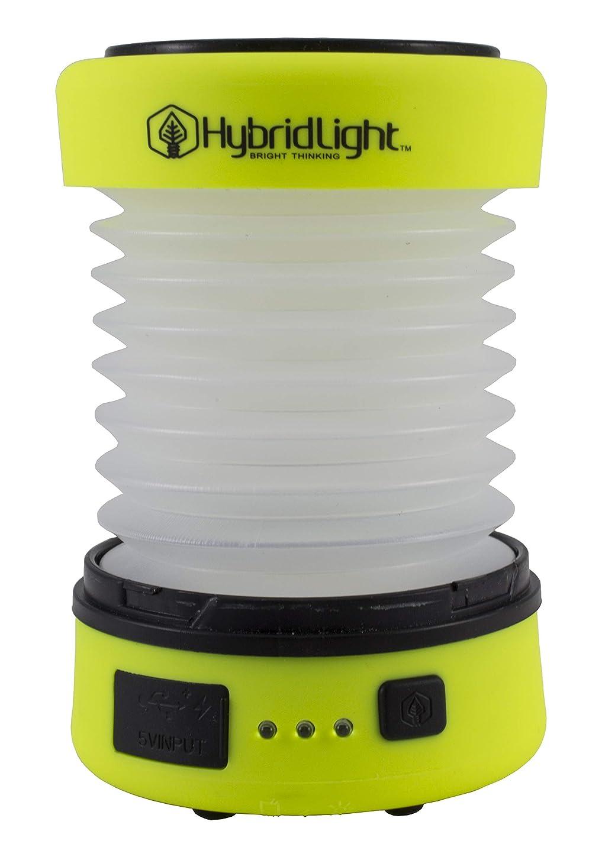 否認する合併症毒性ハイブリッドライト(HybridLight) パックランタン イエロー 直径8.5×5~13cm 電池交換不要のソーラー充電式LEDライト