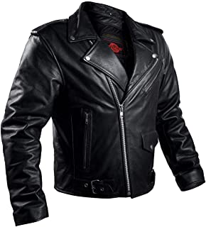 LEATHER ARMOR BIKER MOTORCYCLE JACKET MEN BRANDO CAFÉ...
